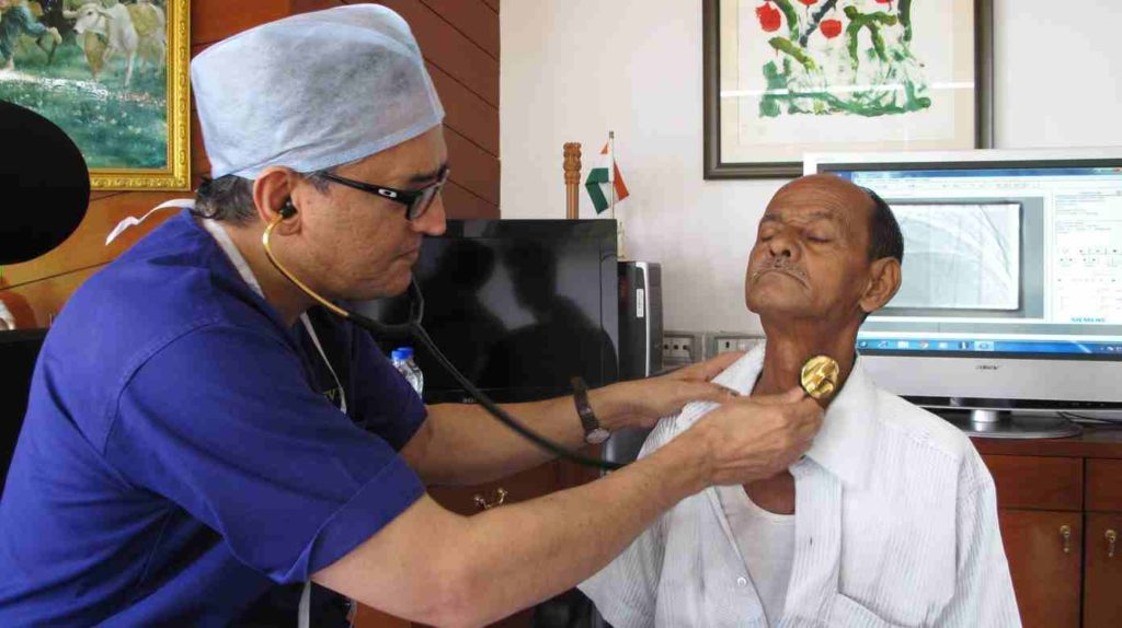 indian doctor with patient